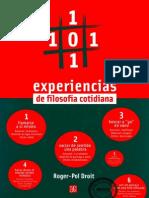 101 Experiencias de Filosofía Cotidiana - Roger-Pol Droit