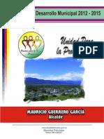DOC. PLAN de DESARROLLO Unidad Para La Prosperidad. 2012-2015 Sibundoy, Putumayo OK