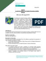Call for A4HP Internship 2014