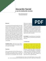 Educación Social en y Con La Institución Escolar