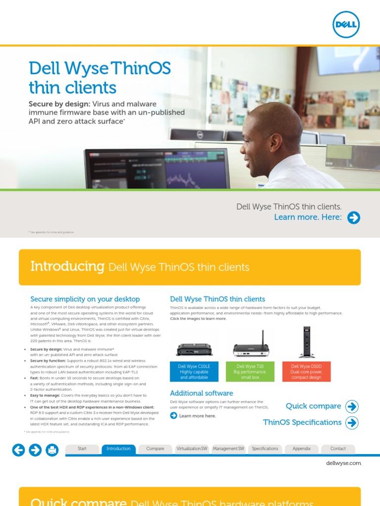 Dell Wyse ThinOS 170713   Cloud Computing   Desktop