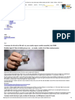 Consumo de Álcool No Brasil Cai, Mas Ainda Supera Média Mundial, Diz OMS