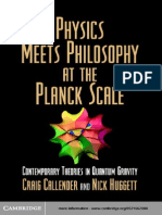 Physics Meets Philosophy at the Planck Scale - C. Callender, N. Huggett (Cambridge, 2004) WW