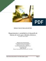 4 Marzo 2012. Requerimientos y Actualidad en El Desarrollo de Baterías de Ion Li Para Vehículos Eléctricos 2012