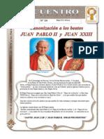 Boletín de Mayo de 2014 del DIMI - Nuevos santos