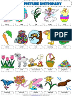 Easter Holiday Picture Dictionary Worksheet