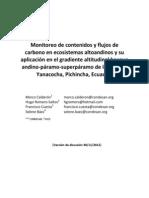 Monitoreo de Carbono en Ecosistemas Altoandinos y Su Aplicación en El Gradiente Altitudinal Bosque Andinov2.0