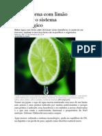 Água Morna Com Limão Estimula o Sistema Imunológico