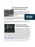 First Generation-Fifth Generation Computer