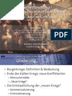 """Int. Konfliktforschung I - Woche 10 - """"Neue"""" oder """"alte"""" Kriege"""