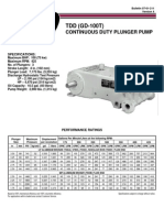 1038 Tdd Gd 100t Continuous Duty Pump Brochure Data Sheet