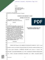 ACE AMERICAN INSURANCE COMPANY v. HALLIER et al complaint