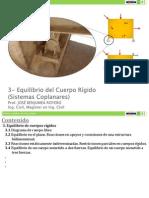 3- Equilibrio Del C.R. - Coplanares