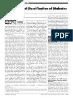 23e1. Diabetes Mellitus. DX & Classification- ADA 2013
