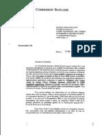 La lettre de griefs de 2005 de la Commission bancaire
