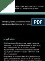 Single Versus Double-layer Hysterotomy Closure