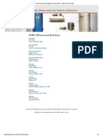 Pressure Vessel Manufacturers Association - Officers and Directors