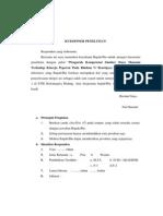 Lampran Kuisioner Dan Perhitungan SPSS
