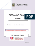 Distance Exam 1 - b01