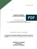 Projet de rapport de l'Inspection sur le compte propre des Caisses d'épargne
