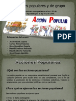 Diapositivas Acciones Populares y de Grupo