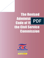 Revised Administrative Code of 1987 on the Civil Service Commission
