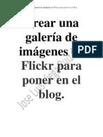 Crear una galería de imágenes en Flickr para poner en el blog