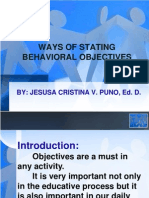 Ways of Stating Behavioral Objectives97-2003