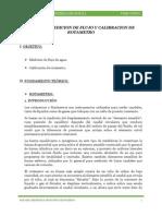 Analisis, Medicion de Flujo y Calibracion de Rotametro