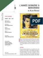 l Annnee Derniere a Marienbad de Alain Resnais