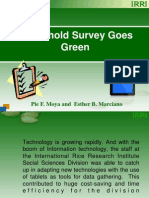 Household Survey Goes Green