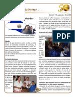 BOLETIN 119 INFORME MISIONERO EL SALVADOR - SEPTIEMBRE 2009