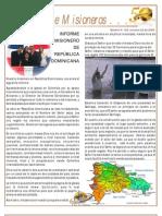 boletin 129 INFORME MISIONERO REPUBLICA DOMINICANA - OCTUBRE 09