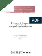 Cultura Organizacional y Gestion de La Innovación