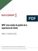 NPS® como modelo de gestión de la experiencia del cliente