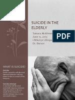 suicide in the elderly