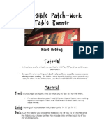 Reversible Table Runner Pdf