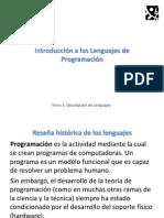 Tema 1-01 - Introduccion a Los Lenguajes
