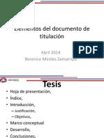 1.- Elementos Del Documento de Titulación