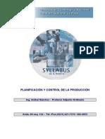 Planificación Control Producción