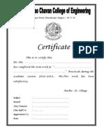 Certificate 12 13