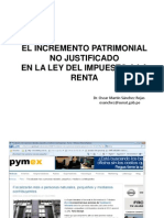 Lavado Activos Incremento Patrimonial Sanchez