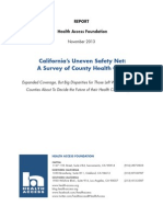 California's Uneven Safety Net - A Survey of County Health Care