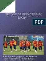 Metode de Refacere in Sport