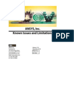 ANSYS, Inc. Known Issues and Limitations