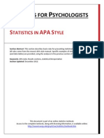 Wendorf Reporting Statistics