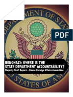BENGHAZI HouseForeignAffairs Report LackAccountabilityBenghazi