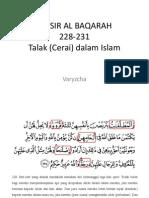 Tafsir Al Baqarah 228-231
