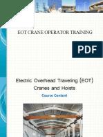 New Eot Crane Training Ppt