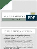 Multiple Methods